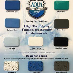 aquaGuard 5000 Pool Paint Sample Board