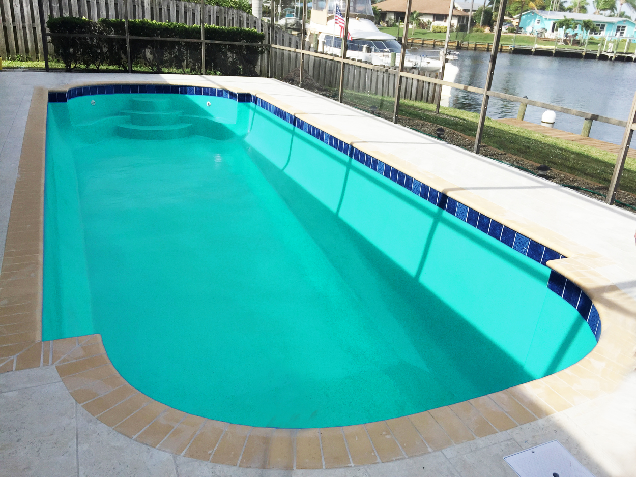 Aquaguard 5000 colors swimming pool paint finishes for Swimming pool construction miami
