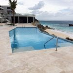 Commercial Pool Surfacing painting in Bermuda