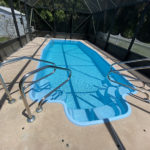 After images of a pool with Aquaguard 5000 pool repair and pool paint
