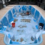 Florida Fiberglass Pool before paint