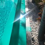 Close up of pool paint applied