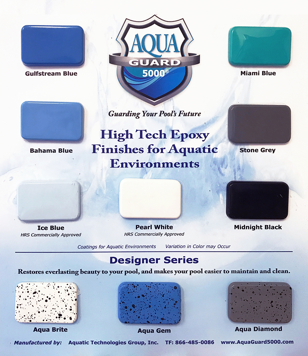 aquaGuard 5000 Pool Paint Sample Board