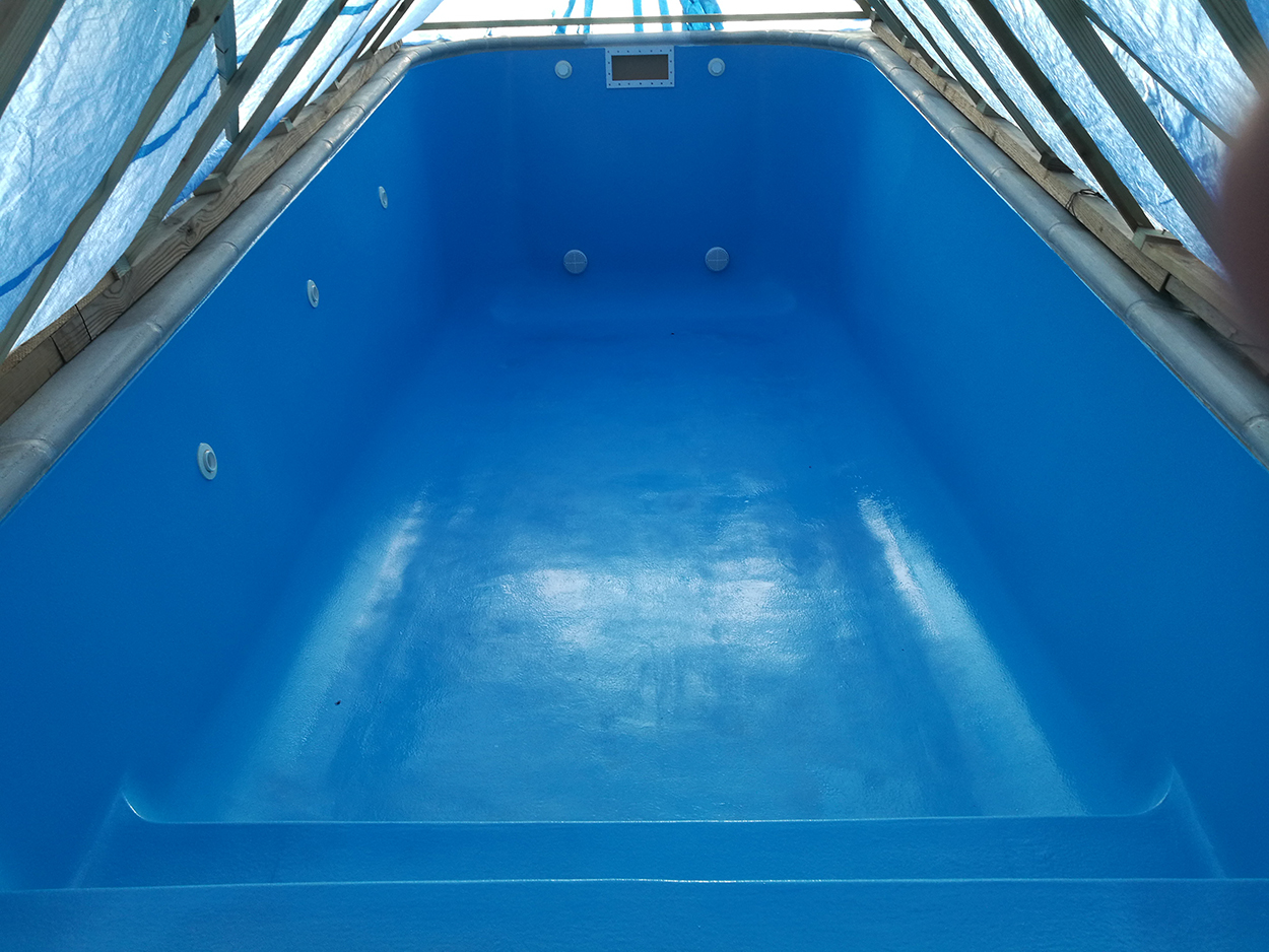 Swimming Pool Refinished with Aquaguard 5000 High performance pool Refinishing product