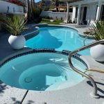 California DIY Pool Before and after AquaGuard 5000 Swimming Pool Paint